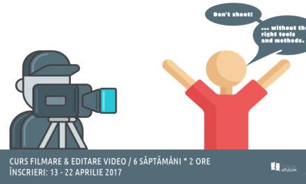 Curs filmare și editare video